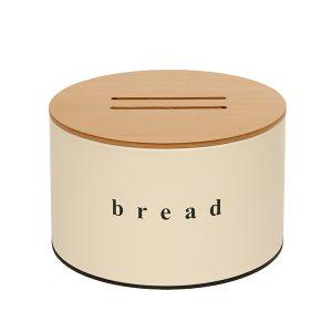092518703 - Ψωμιέρα με Ξύλινο Καπάκι Ivory Ματ