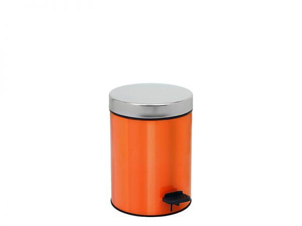 03126803 - Χαρτοδοχείο 3 lit Soft Close Πορτοκαλί Χρωμέ