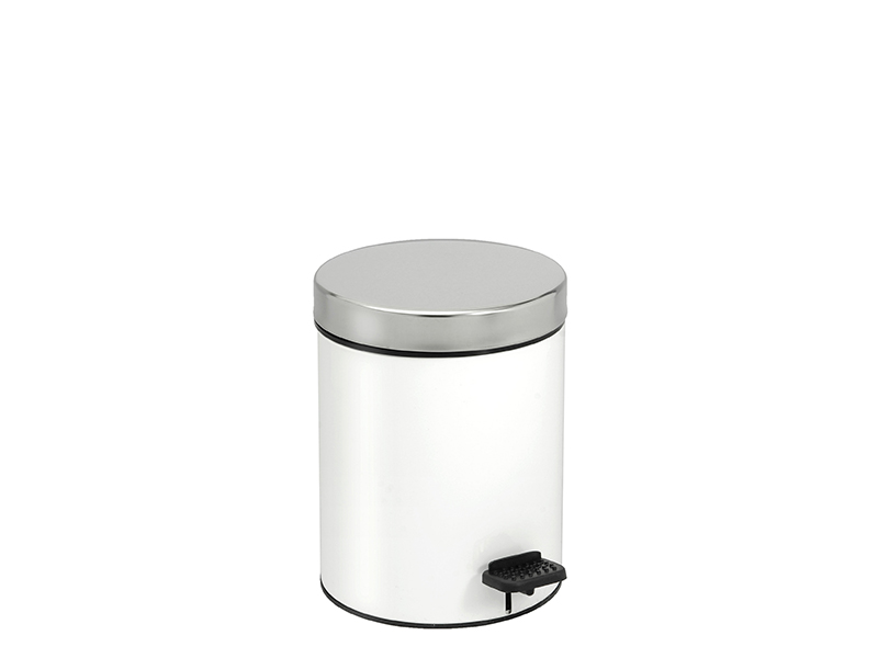 03126003 - Χαρτοδοχείο 3 lit Soft Close Λευκό Χρωμέ