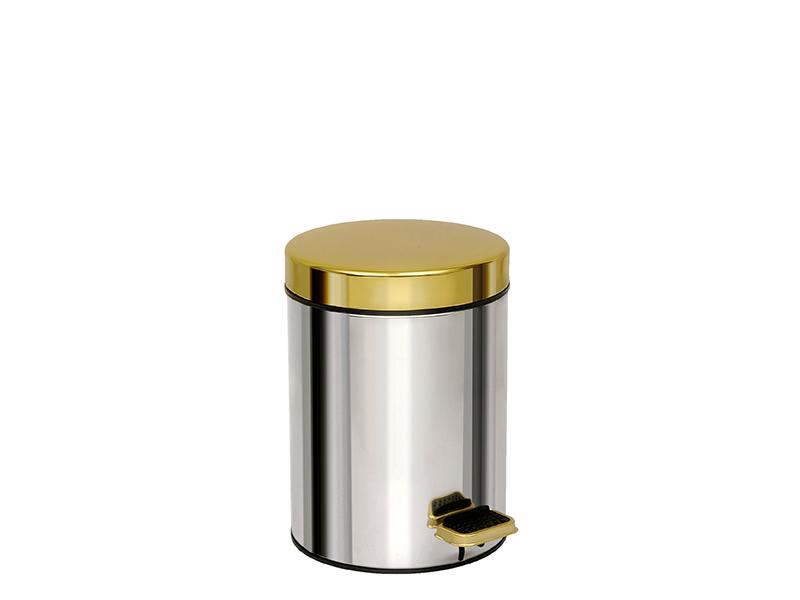 03602001 - Χαρτοδοχείο 3 lit Soft Close Χρώμιο Χρυσό