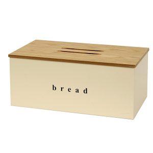 402218703 - Ψωμιέρα με Ξύλινο Καπάκι Ivory Ματ