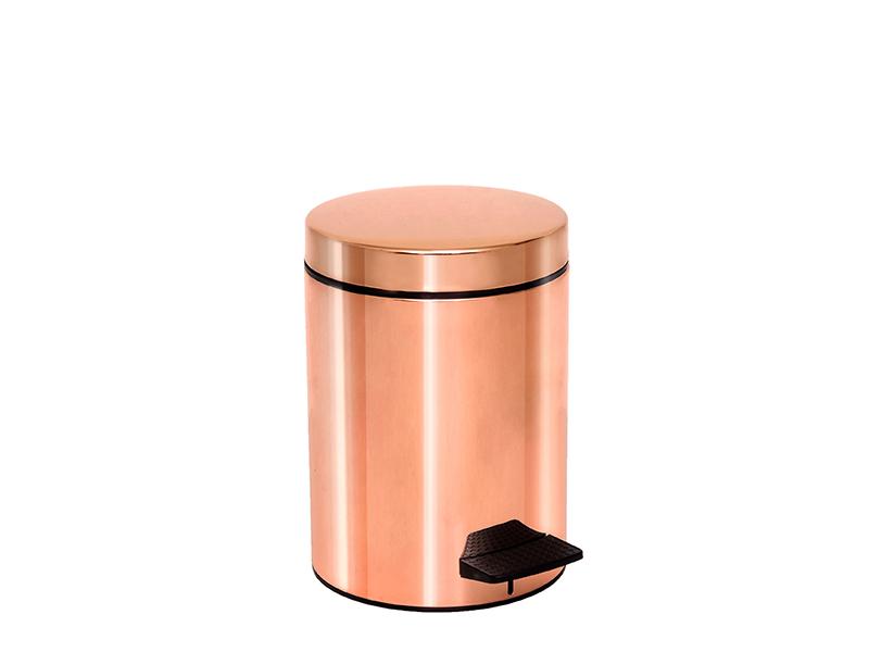 05096022 - Χαρτοδοχείο 5 lit Soft Close Ροζ Χρυσό