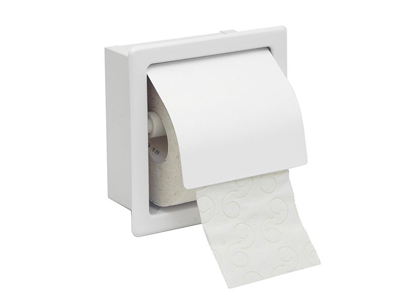 109033 - Χαρτοθήκη με Καπάκι Λευκή Ματ