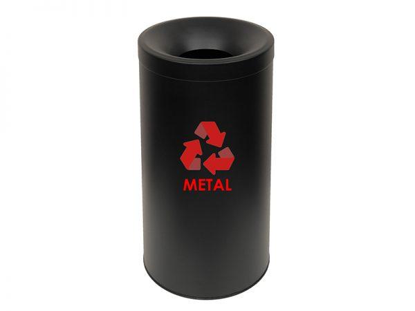 653470AL433 - Κάδος Ανακύκλωσης Αλουμινίου Μαύρο Ματ