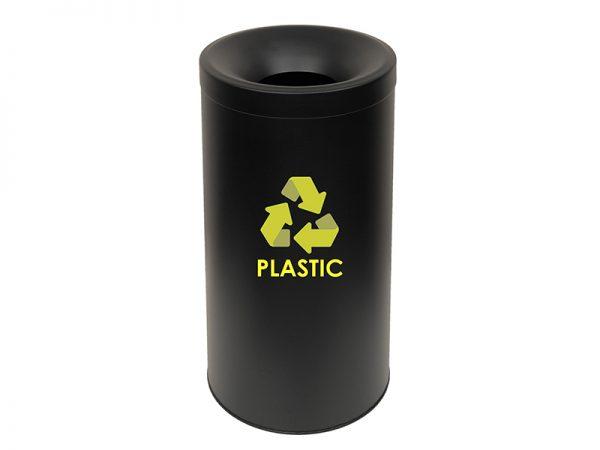 653470PL433 - Κάδος Ανακύκλωσης Πλαστικού Μαύρο Ματ