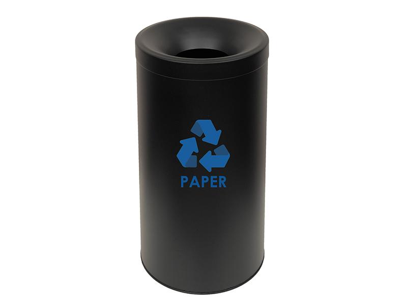 653470PP433 - Κάδος Ανακύκλωσης Χαρτιού Μαύρο Ματ
