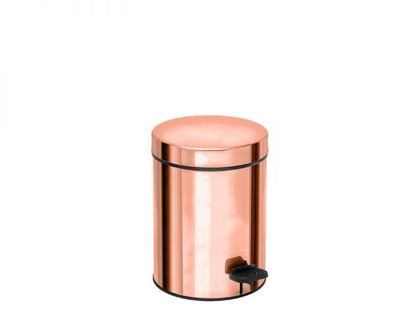03607022 - Χαρτοδοχείο 3 lit Soft Close Ροζ Χρυσό