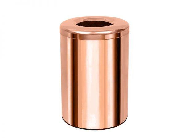 182536K022 - Καλάθι Απορριμμάτων Γραφείου Δωματίου Ροζ Χρυσό
