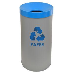 653470PP163 - Κάδος Ανακύκλωσης για χαρτί 65 lit Γκρι Ματ
