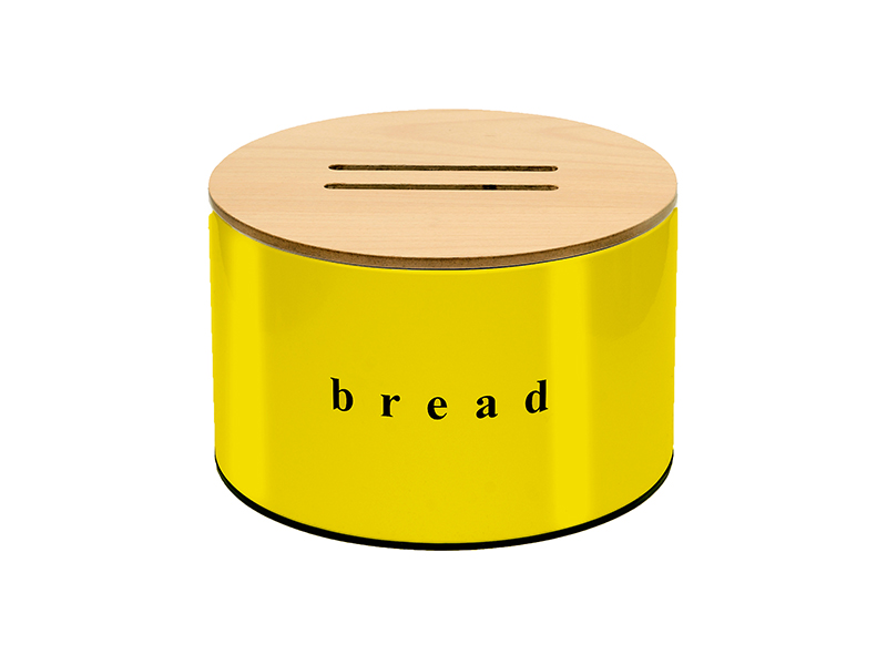 092518603 - Ψωμιέρα με καπάκι κοπής Κίτρινη