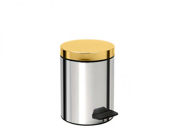 05415001 - Χαρτοδοχείο 5 Lit Soft Close Χρώμιο Χρυσό